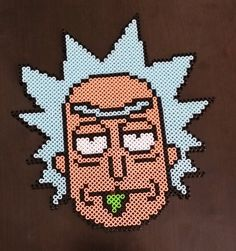 Mini Perler Rick (Rick and Morty) by WunderPixie