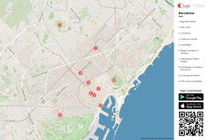 barcelona printable tourist map