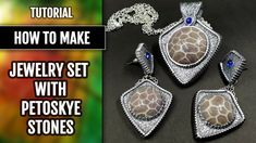 How to make: Faux Sterling Silver Earrings and Pendant with Faux Petoske...