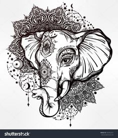 stock-vector-decorative-vector-elephant-with-tribal-mandala-ornaments-ideal-ethnic-background-tattoo-art-yoga-592962221.jpg 1,364×1,600 pixels