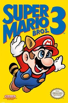 Super Mario Bros. 3 - NES Cover - Official Poster