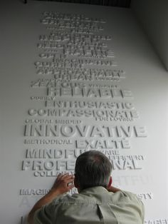 Dimensional Letters on a wall - love this for my office