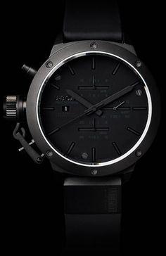 """U-Boat Classico 53 Titanium Watch - """"MURDERED"""" out watch"""