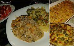 1. Házassági Évfordulónk - Gombás darált húsos ragu, csőben sült kelbimbóval Quiche Muffins, Chicken, Vegetables, Food, Essen, Vegetable Recipes, Meals, Yemek, Veggies