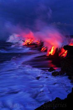 Kilauea Volcano, Hawaii-where the lava meets the ocean.