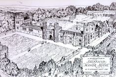Learn about Sheffield Manor, the Tudor manor house which played host to Cardinal Thomas Wolsey, who was taken ill there on his way to London to be tried for treason. Sheffield Cathedral, Tudor History, British History, Tudor Architecture, Tudor Monarchs, English Manor Houses, Tudor Era, South Yorkshire, Tudor House