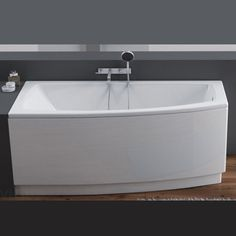 Baignoire acrylique asymétrique version gauche 160x70cm ARCLINE CPS Sélection