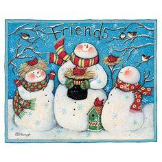friendly, frosty Snowmen