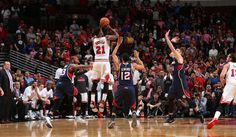 By Adam Fluck | 10.16.2014 | 9:58 p.m. CT | Archive | @AdamFluck  Box score  CHICAGO – Jimmy Butler scored a game-high 29 points and drilled a game-winning three-pointer to give the Bulls an 85-84 victory over the visiting Atlanta Hawks on Thursday night.