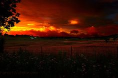 Almost Heaven West Virginia, Country Farm Summer Evening Sunset. After a day of humidity and rain off and on, the Lord gave us a Heavenly Sunset reminder that there is always the Glory of His Sonshine after the heat, rain and storms.