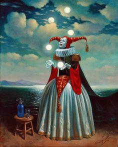Fifth Element Art by Michael Cheval Surreal illusion art Fantasy Art whimsical Art Surrealism Painting, Pop Surrealism, Arte Peculiar, Art Fantaisiste, Ouvrages D'art, Art Et Illustration, Lowbrow Art, Wassily Kandinsky, Fantastic Art