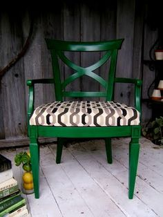 Emerald Chair!!!!!! The only thing that I would change is the fabric.