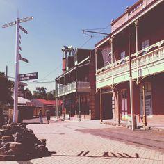 Historic diamond rush town in Kimberley.