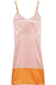 Stella McCartney Cherie Sneezing color-block stretch-silk chemise - STELLA MCCARTNEY on InStores
