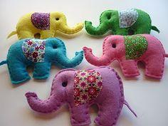 Lembrancinha de elefante, #feltro elephant felt