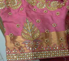 Pattu blouse hand with butti 91 9866583602 whatsapp no 7702919644