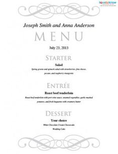 Great Dinner Menu Template Free With Formal Dinner Menu Template