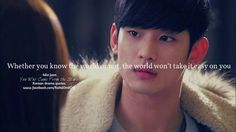 """Whether you know the world or not, the world won't take it easy on you."" Do Min Joon ""My Lovre From Another Star"""