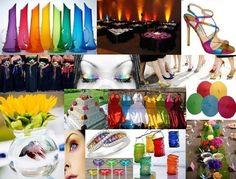 Rainbow wedding...love the shoes :)