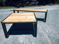 Siberian Larch, Steel. Outdoor Coffee Tables, My Furniture, Corner Desk, Bench, Pottery, Steel, Home Decor, Corner Table, Ceramica