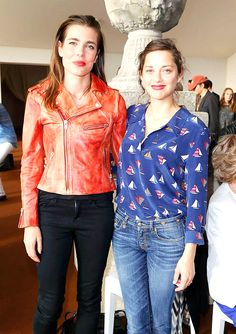 """""""""""That I find amazing is Charlotte Casiraghi. The first time I had dinner with her, I could not take my eyes off of her face. Sure, there are things that go with it. Intelligence, simplicity,..."""