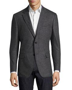 16b040185c Salvatore Ferragamo Virgin Wool Jersey Two-Button Blazer