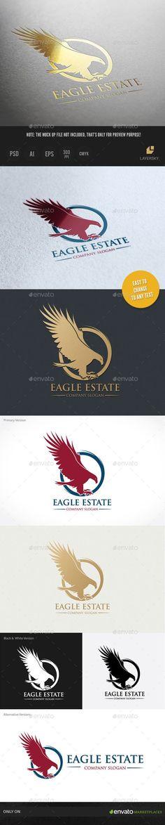 Eagle Estate Logo Template #design #logotype Download: http://graphicriver.net/item/eagle-estate/9236975?ref=ksioks