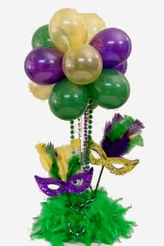 Mardi Gras Mask Centerpieces | BALLOON - MARDI GRAS contents