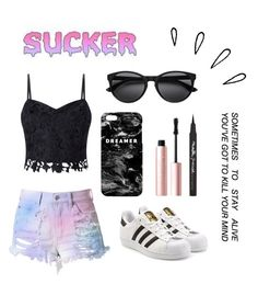 Washed up unicorn by beatlemac03 on Polyvore featuring polyvore, fashion, style, Lipsy, Cotton Candy, adidas Originals, Mr. Gugu & Miss Go, Too Faced Cosmetics, Maybelline, Old Navy and clothing