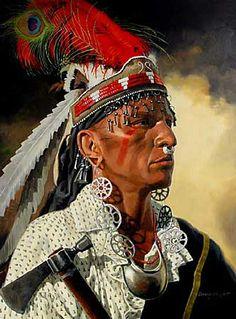 Shawnee warrior, by Robert Griffing