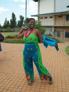 Tsonga Print Jumpsuit by ForeverFaith Couture