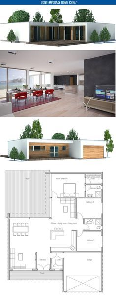Affordable two bedroom house plan TINY HOUSES Pinterest - plan de maison simple