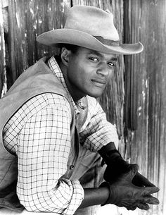 The Young Riders Cast, Don Franklin, hat, powerful face, intense, great tv, miss them portrait, photo b/w.