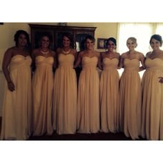 The bridesmaids waiting to see the bride while the MOH helped me get dressed
