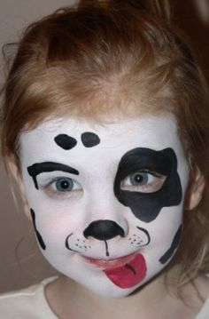 #Dog face painting http://makinbacon.hubpages.com/hub/halloweenfacepaintingdesignschildrenideas