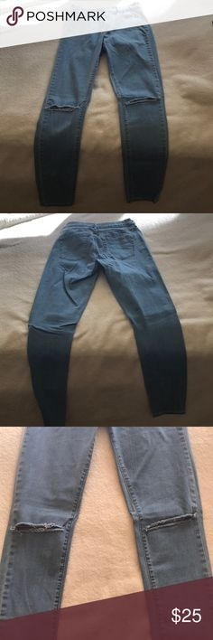 Super high waisted skinny jeans Pretty brand new, worn twice, knee slits, high waisted skinnies, size 26, from Pacsun PacSun Jeans Skinny