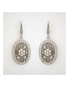 Perfect Details Cherl King Couture Vintage Oval Filigree Wedding Earrings - The Knot