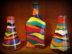 Декорирование бутылок солью своими руками соль цветная