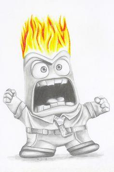 Anger from inside out-disney-pixar-fan art-character art-drawing-wall art