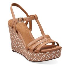 Amelia Avery in Beige Leather - Womens Sandals from Clarks