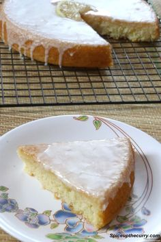 Eggless lemon cake recipe - soft, fluffy and super moist cake recipe with lemon. It is covered with lemon icing. Yes double dose of lemon. This egg free lemon cake is made from scratch. Eggless Lemon Cake, Lemon Yogurt Cake, Eggless Desserts, Eggless Recipes, Eggless Baking, Lemon Desserts, Lemon Recipes, Baking Recipes, Dessert Recipes