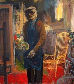 Charles Eyck in zijn atelier