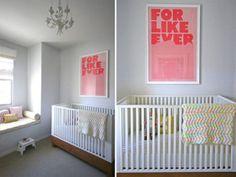 quartos de bebês decoração moderna simples