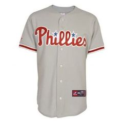 MLB Youth Philadelphia Phillies Road Replica Jersey By Majestic (Road Gray, X-Large) --- http://www.pinterest.com.tocool.in/488