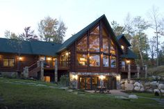 Log Cabin Homes from Golden Eagle Log Homes, extensive collection of home plans or custom designs log home especially for you. Log Cabin Floor Plans, A Frame House Plans, Log Home Plans, Lake House Plans, House Floor Plans, Barn Plans, Luxury Log Cabins, Log Cabin Homes, Haus Am See