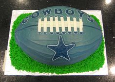 I made this Cowboys football cake for my nephew, Monty's, birthday. Dallas Cowboys Birthday Cake, Cowboy Birthday Cakes, Dallas Cowboys Party, Cowboy Cakes, Football Birthday, Dallas Cake, Football Food, Football Team, Cowboy Food