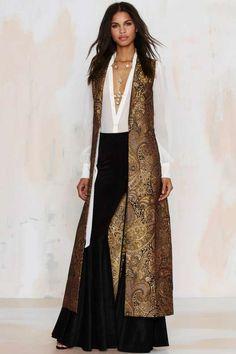 Nasty Gal Go for Baroque Maxi Vest