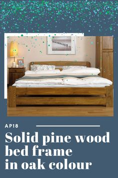 🛏 Standard 4ft6 double bed is definitely the most popular size across our offer. What size of bed frame do you use? : #bedframe #solidwood #pinewood #oak #doublebed #4ft6 #furniture Wooden Bed Frames, Wood Beds, Solid Pine, Solid Wood, Oak Color, Design Posters, Double Beds, Bed Sizes, Graphic Design