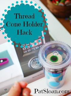 Sewing Hacks | Best Tips and Tricks for Sewing Patterns, Projects, Machines, Hand Sewn Items. Clever Ideas for Beginners and Even Experts  |  Thread Cone Holder Hack  |  http://diyjoy.com/sewing-hacks