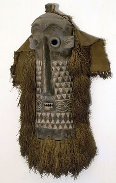 Africa | Mask from the Pende people of DR Congo | Wood, pigment and natural fibers